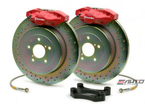 Brembo Rear Gt Brake 2pot Red 316x20 Drill Disc For Wrx 08 14 Legacy 2 5i 10 14
