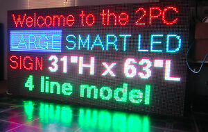 38 X 63 Full Color Outdoor Led Display Sign 10mm Digital Billboard 5yr Waranty
