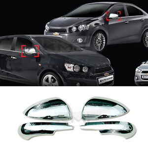 Chrome Silver Mirror Cover Molding Garnish 2pcs For Chevy 2011 2017 Sonic Aveo