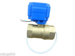 10 Units Of Motorized Ball Valve Dn20 reduce Port 2 Way 12v electrical Valve