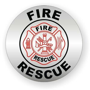 Fire Rescue Hard Hat Decal Helmet Sticker Firefighter Squad Emergency Rescue