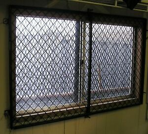 48 X 29 Woven Wire Security Window Guard Mobile Modular Office Trailer Window