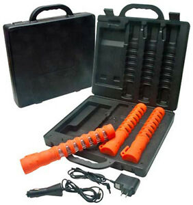 Aervoe 1156 Road Led Baton Road Multi functional Orange Flare Kit