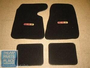 1964 67 Oldsmobile Cutlass 442 Embroidered Carpeted Floor Mats Black