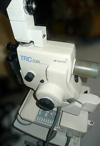 Topcon Trc 50ia Retinal Camera Fundus W Mt 2 Camera Relay Lens powers On