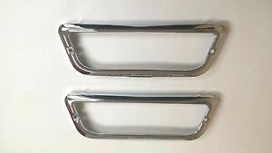 1960 Impala Belair Biscayne El Camino Parking Light Chrome Bezel Pair