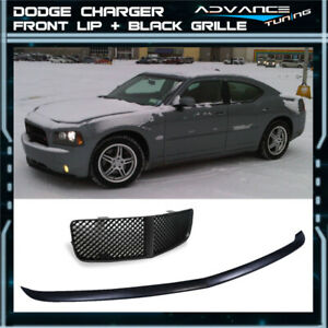 For 05 10 Dodge Charger Oe Type Front Bumper Lip Black Mesh Grill