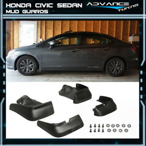 For 12 14 Honda Civic 4dr Sedan Oe Style Mud Flap Guard 4pcs Pu