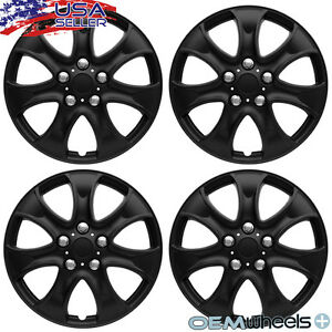 4 New Oem Matte Black 15 Hubcaps Fits Volkswagen Vw Center Wheel Covers Set
