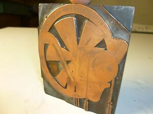 Industrial Copper Plate Print Block Kimble Electric Co Electric Vintage Fan