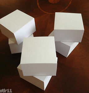 Blank Note Paper Cubes new Taller Size 3 1 2 X 3 1 2 Lot Of 6 free Ship