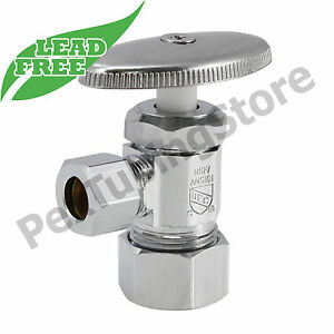 10 5 8 Od X 3 8 Od Compression Angle Stop Valve Multi turn Lead free Nsf Upc