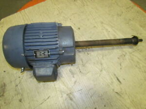 Reliance 3 Hp 3500 Rpm 230 460v 182ty Frame Tefc Electric Motor Extended Shaft