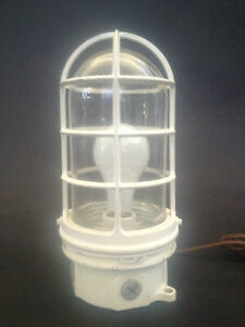 Mid Century Modern Industrial Sconce Hanging Ceiling Lamp Glass Explosion Proof