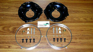 Headlamp Retaining Ring Mounting Bucket 28pc Kit W Hardware Camaro Nova Rings