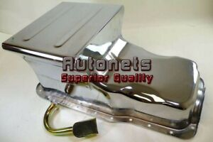 Ford Small Block Racing Oil Pan 260 289 302 Chrome Sbf 7 Quarts Street Hotratrod