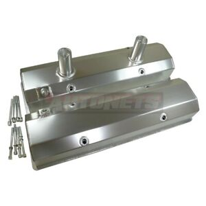 Small Block Chevy Fabricated Aluminum Circle Track Dirt Valve Cover Sbc Anodized