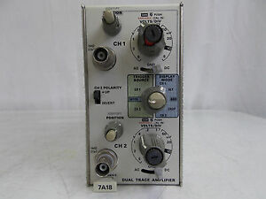 Tektronix 7a18 Dual Trace Amplifier W Calibration Sticker 10 17 2014