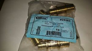 Lot Of 50 Pure Link 29282 Pex Brass Barb Coupling Union 1 X 3 4