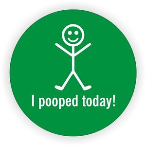 Funny I Pooped Today Hard Hat Sticker Helmet Tool Box Decal Label Plumber grn