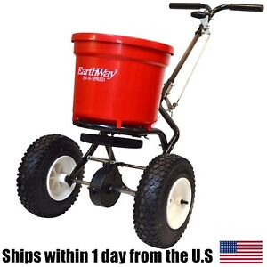 Earthway 2150 Commercial Broadcast Spreader 50lb Round Hopper