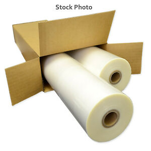 27 Wide 1 5 Mil Thermal Roll Lamination Film 2 Rolls Glossy Clear