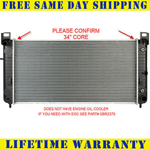Radiator For Chevy Gmc Fits Silverado Sierra V8 34 Core W o Engine Oil Cooler
