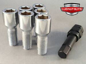 20 Tuner Lug Bolts 12x1 5 Chrome Conical Stud Bolt 24mm 12x1 5 Socket Style