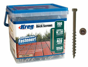 Kreg Sdk c2w 700 2 Protec Kote 8 Coarse Thread 700 Ct Deck Screws