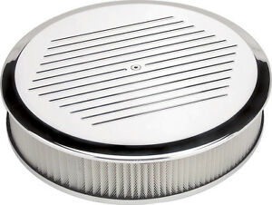 Billet Specialties Ball Milled Polished Aluminum Air Cleaner large Round 14
