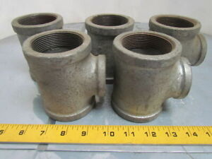 2x2x1 1 4 Npt Malleable Iron Galvanized Pipe Reducing Tee Class 150 Usa Lot 5
