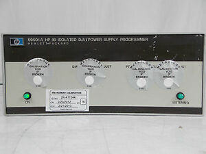 Hp Agilent 59501a Hp ib Isolated D a Power Supply Programmer