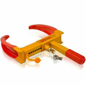 Wheel Lock Clamp Boot Tire Claw Trailer Auto Car Truck Anti Theft Towing New