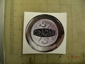 Vintage Cragar Wheels Sticker Decal 3 X3