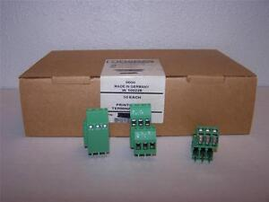 Phoenix Contact Mkkds 3 3 5 08 Printed Pcb Terminal Block New In Box Lot Of 50