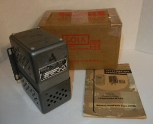 Sola Electric 20 13 060 1 5k666 Constant Voltage Transformer 95 130v 20 13 060 2