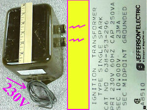 High Voltage Jefferson Ignition Transformer 10 000 Vrms 23ma Nos 638 253 288 Hv
