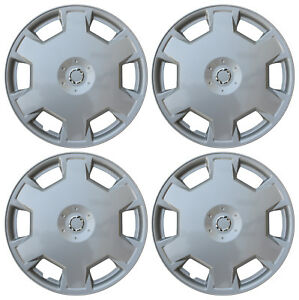 4 Piece Set Silver Hub Caps Fits 15 Inch Steel Wheels Wheel Covers Cover Cap