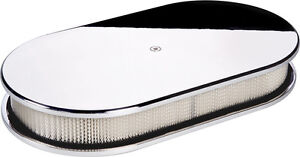 Billet Specialties Polished Aluminum Air Cleaner large Oval plain smooth 15429