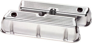 Billet Specialties Ball Milled Polished Aluminum Sbf Tall Valve Covers sb Ford