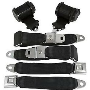 1970 1973 Corvette C3 Coupe 3 Point Seat Belt Set W Single Retractors