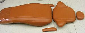 Pelton Crane 1800 Mandarin Orange Plush Ultraleather Dental Chair Upholstery