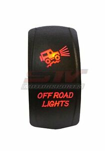 Rocker Switch Off Road Lights Red Led Jeep Truck Wrangler
