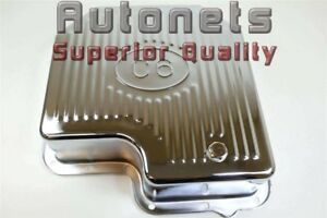 Chrome Steel Ford Mustang C 6 Logo Automatic Transmission Pan extra Capacity