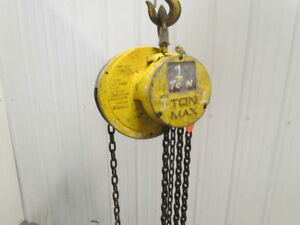 Cm Cyclone 1 Ton Manual Chain Fall Hand Hoist 9 6 Lift 2000 Lb Capacity