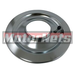 14 Chrome Flat Air Cleaner Base 5 1 8 Neck Opening 4 Barrel Chevy Ford Mopar