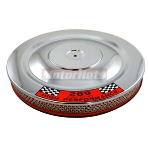 14 Chrome Air Cleaner Breather Filter Hot Street Rat 289 Ford Mustang Blue Base
