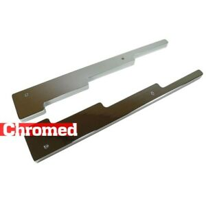Chrome Billet Aluminum Linear Spark Plugs Wire Separator Loom Divider Smooth Sbc