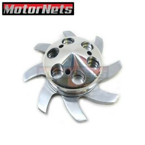 Polished Aluminum Alternator Fan Pulley Gm Sbc Bbc Chevy Olds Pontiac 350 454