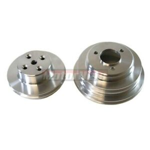 Big Block Chevy Billet Aluminum Pulley Set 2 3 Groove Long Water Pump Bbc Lwp